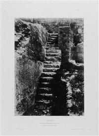 escalier antique taillé dans le roc by auguste salzmann