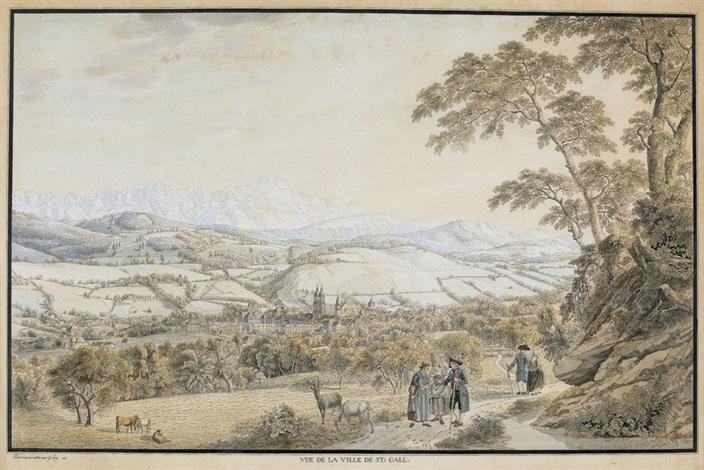 vue de la ville de st gall by gabriel ludwig lory