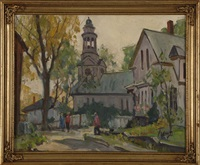 street scene (rockport?) by maria veronica liszt