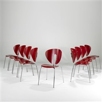gloubus dining chairs (set of 9) by jesus gasca