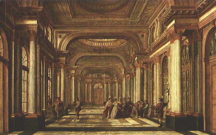 blick in die säulenbestückte halle eines palais geäides by german school frankfurt 18
