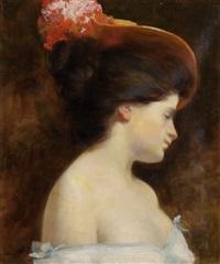 portrait einer jungen dame by august benziger