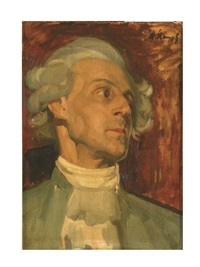 portrait hans hermann von katte(?) by arthur kampf