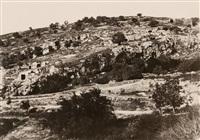 jersualem. vallée de hinnom. ensemble du flac droit by auguste salzmann