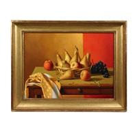 pears on a tabletop by fernand renard