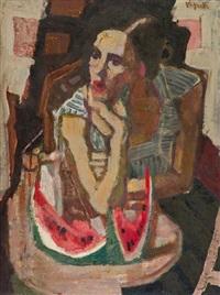 donna e cocomero by gianni vagnetti