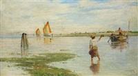 fischer in der lagune by heinrich rasch