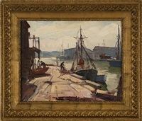 cape ann dock scene by maria veronica liszt