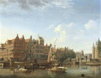 the gelderse kade and the waag, amsterdam by jan ten compe
