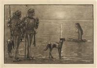 sammlung von 8 grossformatigen zeichnungen (8 works) by ernst carl friedrich te peerdt