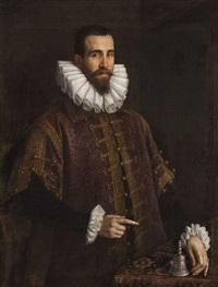 portrait of a man by leandro da ponte bassano
