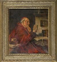 kardinal bei der lektüre by hans kratzer