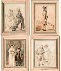 scènes populaires (set of 8 ) by rodolphe töpffer
