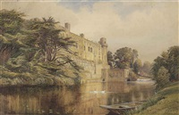 warwick castle by charles reginald aston