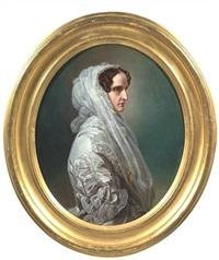 portrait der zarin alexandra feodorowna von russland, gemahlin des zaren nikolaus i., mutter der königin olga von württemberg by minna pfüller
