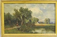 figure in a landscape by hamilton hamilton