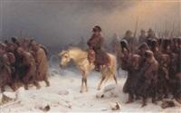 napoleon omgivet af sine tropper by adolf northen