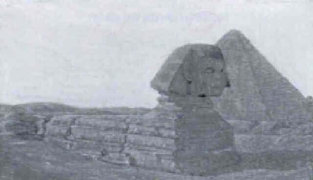 die sphinx und cheopspyramide by jean philippe edouard robert