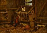 fowl in the cow barn by burr h. nicholls