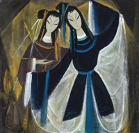 dancing girls by lin fengmian