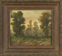 wooded landscape by george david coulon