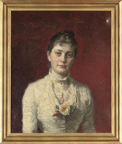 portrait of mrs h wichfeld portrait of e wichfeld esq pair by carl christian ferdinand wentorf