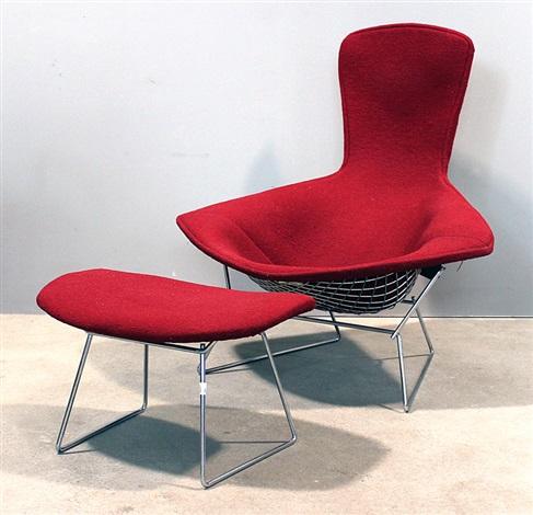 Lounge Sessel Bird Chair Und Hocker By Harry Bertoia On Artnet