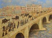 fête sur le pont royal à paris by henri victor wolvens