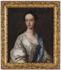 portrait d'une élégante by thomas hudson