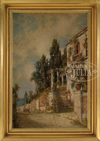 hillside italian villa by prosper louis senat