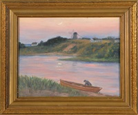 evening, the mill pond, chatham by harold c. dunbar