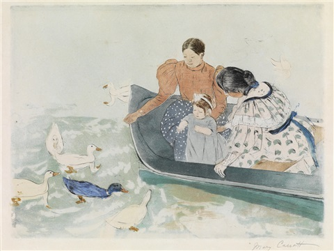 feeding the ducks by mary cassatt