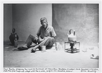 paul bowles preparing tea at christopher wanklyn's house, marrakesh, morocco, july 20 by allen ginsberg