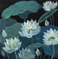 lotus by lin fengmian