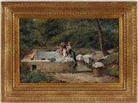 femmes au lavoir by santiago arcos