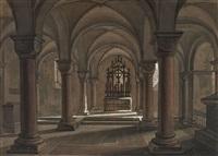 die krypta von st. gereon in köln by simon quaglio
