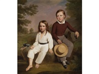 a portrait of amasa m. eaton and charles f. eaton by james sullivan lincoln