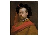 retrato de caballero con banda roja by ignacio de león escosura