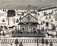 pine grove train station by jane wooster scott