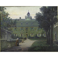 the moravian bell house and the moravian church in bethlehem pennsylvania by emil gelhaar
