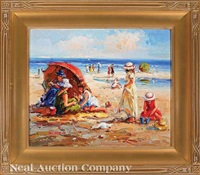 at the beach by claude-marie buford