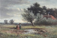 near abinger and near grishall (pair) by abraham hulk the younger