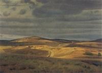 udsigt over mols bjerge by charles godfredsen