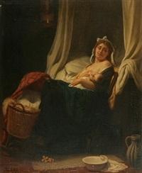 mère et enfant by eugène verdyen