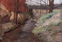 vårlandskap med vattendrag by martha tynell