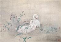 红蓼白鹅 by jiang hongwei