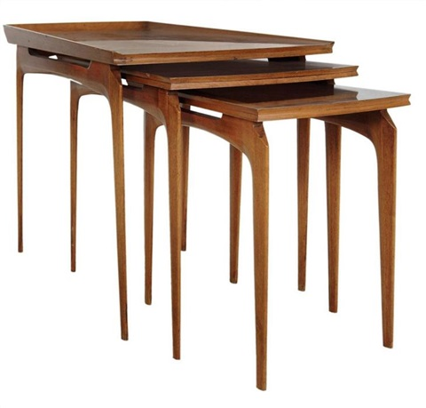 side tables set of 3 by willy nel and philippe neerman
