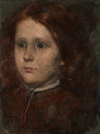 porträtt av flicka by august malmström