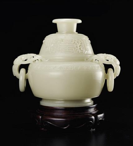 瞿利军(b1970)白玉万寿纹簋式炉