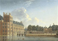 the buitenhof, the hague, seen from the lange vijverberg by jan ten compe